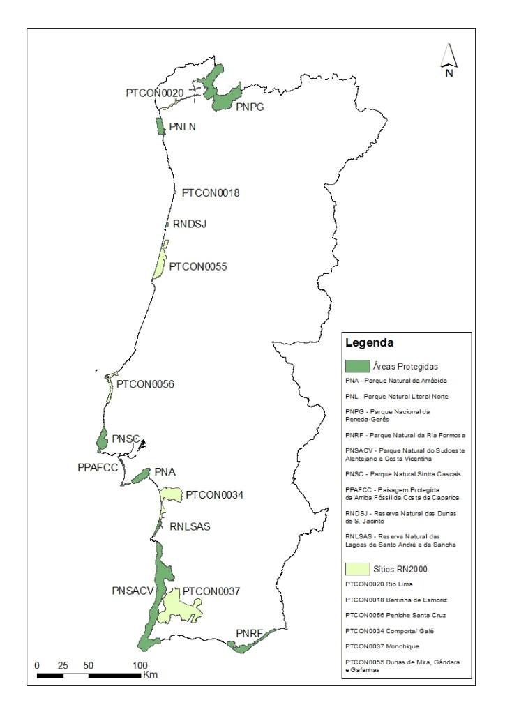 Áreas Classificadas para libertação de Trichilogaster acaciaelongifoliae (Acção A)